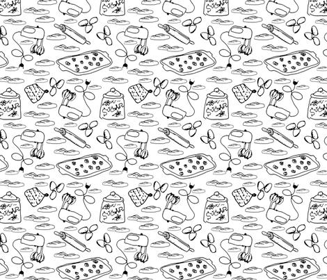 Peanute Butter Cookie Crazy fabric by borealchick on Spoonflower - custom fabric