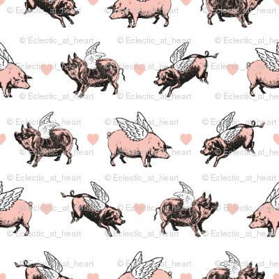 Vintage Flying Pigs