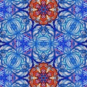 turkish rose in brilliant colors