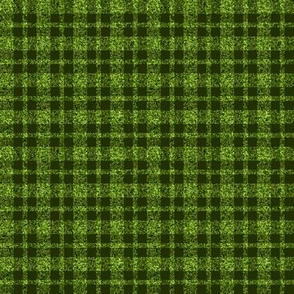 CD39  - Mini - Speckled Lime Green  and Dark Olive Plaid