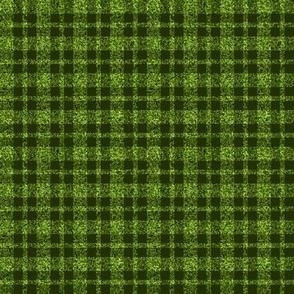 CD39  - Mini  Lime Green Sparkle and Dark Olive Plaid