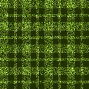 CD39  - Large Lime Green Sparkle and Dark Olive Plaid
