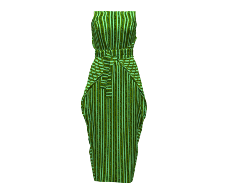 CD39 -  Abstract Stripes - Olive Green - Mint Green Pastel