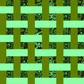 CD39 - Mini - Open Weave Abstract Window Gallery in Pastel Green - Olive Greens