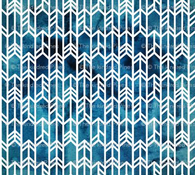 Blue Watercolor arrows