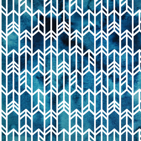 Blue Watercolor arrows fabric by thekindredpines on Spoonflower - custom fabric