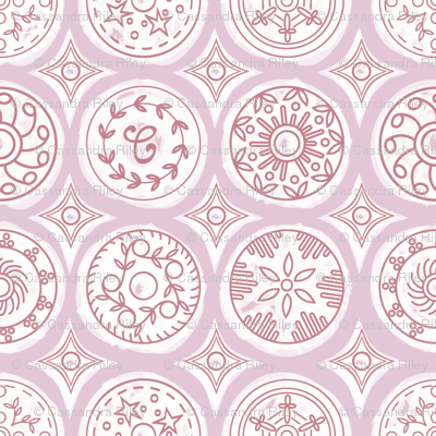 Button-Geo-pastel pink (small)