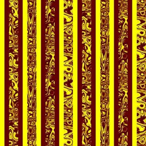 CD40 - Abstract Reddish Brown  and Yellow Stripes
