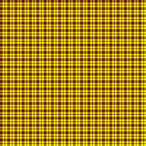 CD40  - Mini Rusty Red Sparkle and Sunny Yellow Plaid