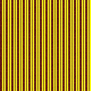CD40  - Mini  Rusty Red Sparkle and Sunny Yellow Stripes
