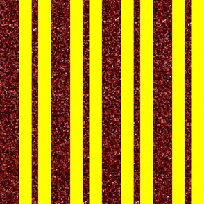 CD40  - Large Rusty Red Sparkle and Sunny Yellow Stripes