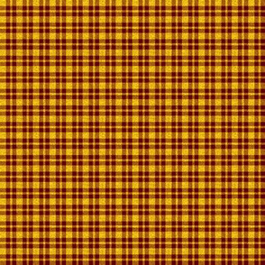 CD41 - Mini Sunny Yellow Sparkle and Raisin Red Plaid