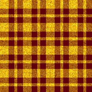 CD41 - Large Sunny Yellow Sparkle and Raisin Red Plaid