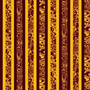 CD41 -Mini  Sunny Yellow and Raisin Abstract  Stripes