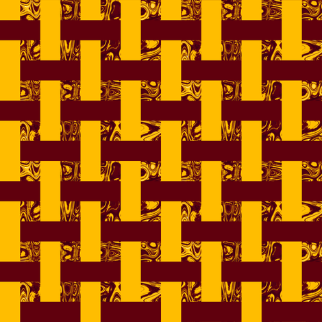 CD41 -  Woven Abstract Window Gallery in Golden Yellow and Raisin Brown fabric by maryyx on Spoonflower - custom fabric