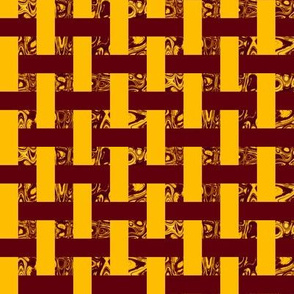 CD41 -  Woven Abstract Window Gallery in Golden Yellow and Raisin Brown