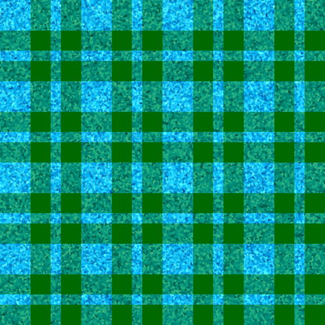 CD42 - Dew-on-the-Grass Green and Summer Sky Sparkle Plaid fabric by maryyx on Spoonflower - custom fabric