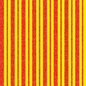 CD43 - Narrow Speckled Orange and Yellow Stripes