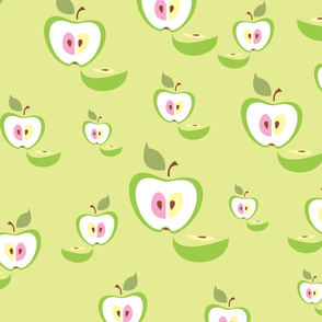 Seamless pattern. Apple background. Fruit.