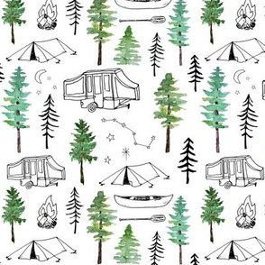 camping and trees