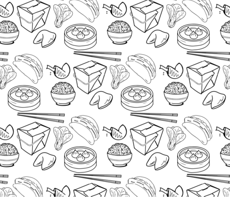 Takeout Night fabric by brooklynsouthern on Spoonflower - custom fabric
