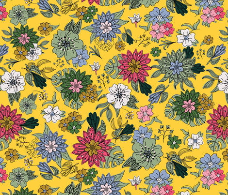 201805-107 Garden Party-08 fabric by mlwade on Spoonflower - custom fabric