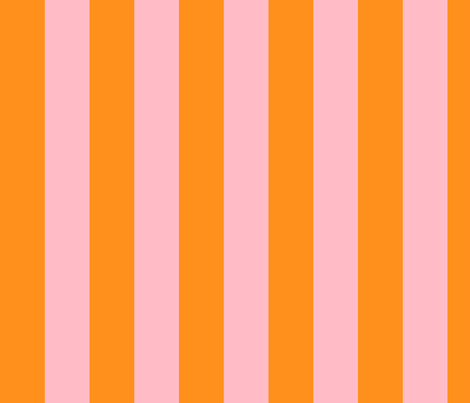 orange and light pink stripes 2in :: halloween vertical fabric by misstiina on Spoonflower - custom fabric