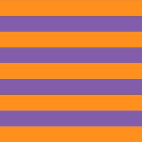 orange and purple stripes 2in :: halloween