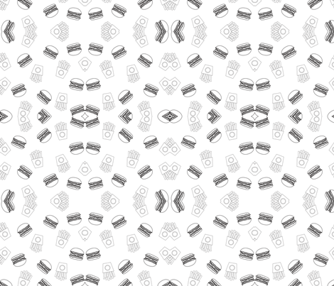 Burger Business fabric by roserct on Spoonflower - custom fabric