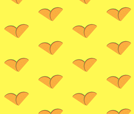 Taco Has my Heart fabric by roserct on Spoonflower - custom fabric