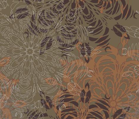 Mandala-1_10072018_1ii_3600px fabric by julesjac964 on Spoonflower - custom fabric