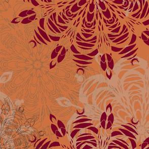 Mandala - Cantaloupe (large pattern)