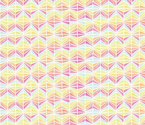 Bright Geometric Lines fabric by leethal on Spoonflower - custom fabric