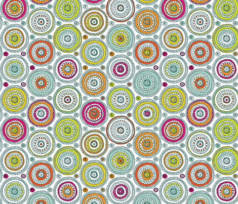 Doodled Circles fabric by leethal on Spoonflower - custom fabric