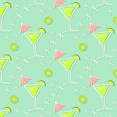 Sparkling Margaritas fabric by studioxtine on Spoonflower - custom fabric
