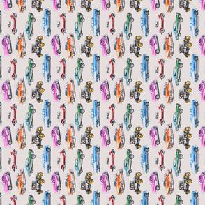 Classics in colored pencil tea towel