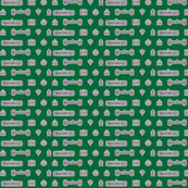 1 Inch Bad Dog Tags Green
