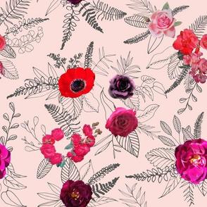 Flowers & Doodles // Lt. Peachy Pink