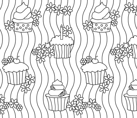 Sweet Cupcakes fabric by julia_diane on Spoonflower - custom fabric