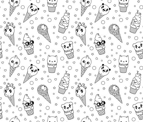 Single Serving QTs fabric by shaynahawkins on Spoonflower - custom fabric