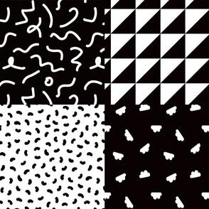 Black + White Postmodern Cheater Quilt