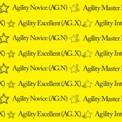 Agility Titles Yellow