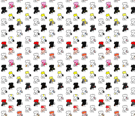 Cockatoos of the World fabric by kjthoon on Spoonflower - custom fabric