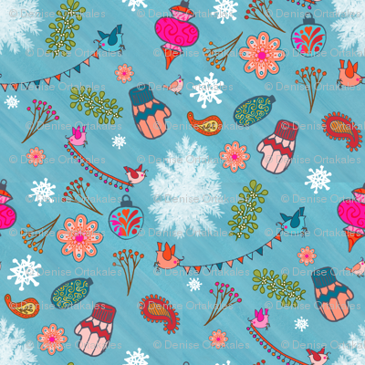 Bohemian Christmas - Blue