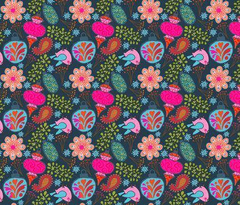 Boho Baubles - Teal fabric by denise_ortakales on Spoonflower - custom fabric