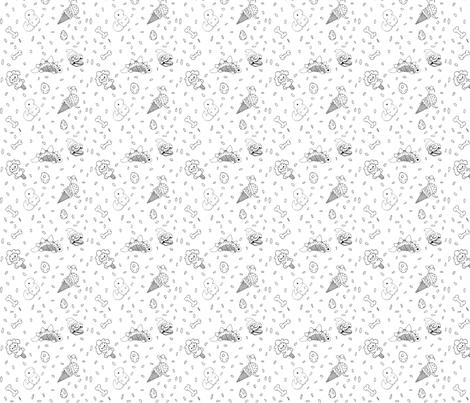 Prehistoric sweets fabric by chubbybunnystudios on Spoonflower - custom fabric