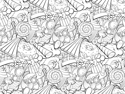 Candy colouring book