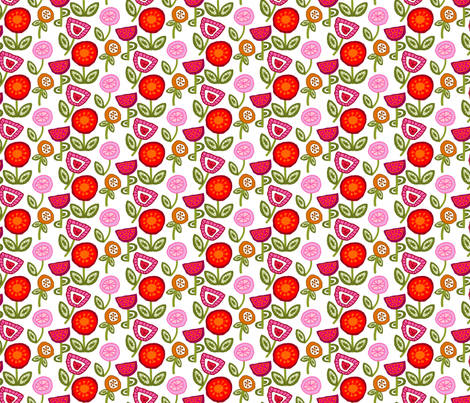 Boho Blossoms fabric by denise_ortakales on Spoonflower - custom fabric