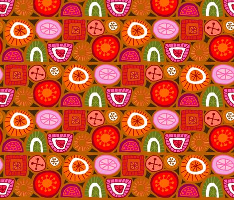 Boho Florals - Ochre fabric by denise_ortakales on Spoonflower - custom fabric
