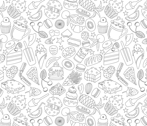 I Like it Sweet - Black fabric by ms_jekyll_and_ms_hyde on Spoonflower - custom fabric